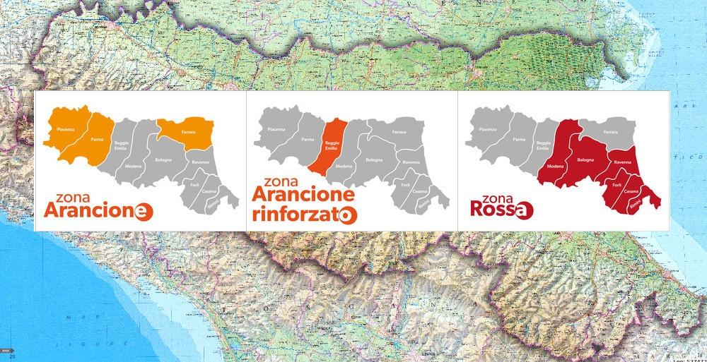 Coronavirus: da Modena all'Adriatico un'unica zona rossa fino al 21 marzo