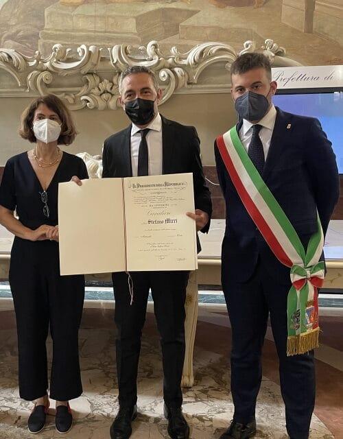 Stefano Mirri è stato nominato Cavaliere Ufficiale al Merito della Repubblica