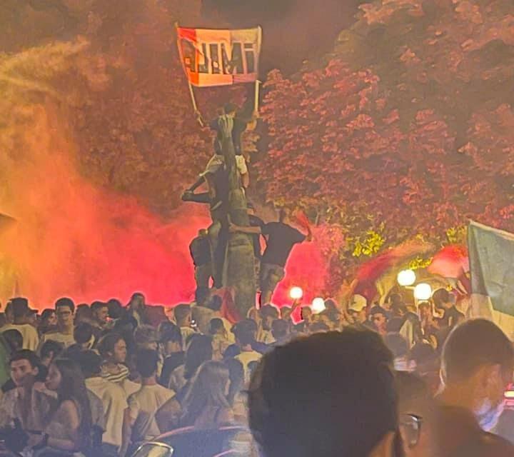 Italia del calcio in cima all'Europa, Imola festeggia fino a notte
