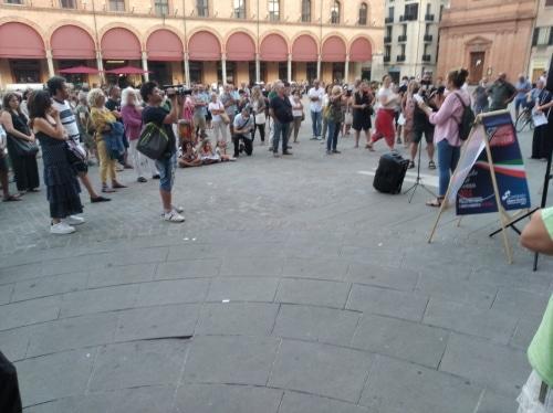 """In piazza Matteotti circa 150 persone per il """"No al green-pass"""""""