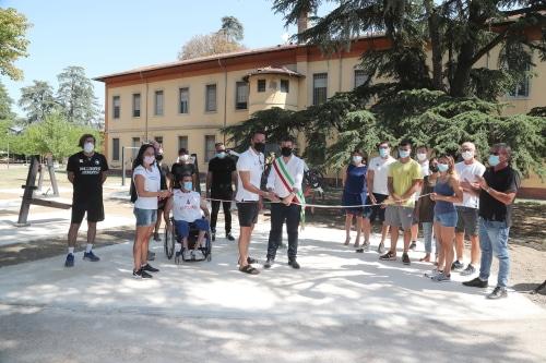 Inaugurate due palestre all'aperto con attrezzi in via Kolbe e all'Osservanza