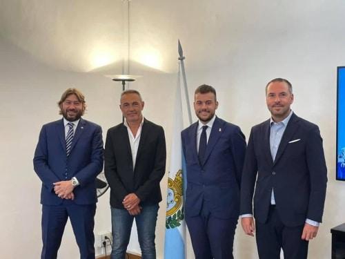"""Il sindaco Panieri a San Marino per parlare di """"prestigiosi progetti sportivi e culturali"""""""