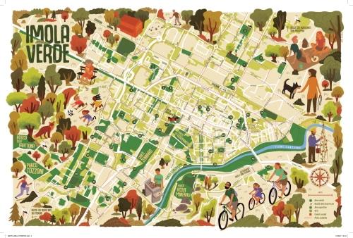 """""""Imola Verde"""", la mappa che racconta parchi e giardini a portata di piedi e bici"""