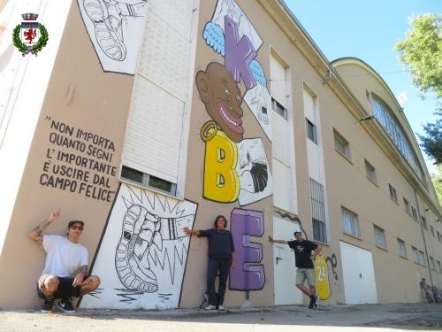 """Basket-murales raffigurante """"Balla"""" e Bryant sarà inaugurato da Belinelli"""