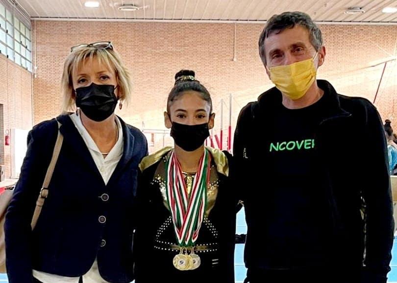 Ginnastica Biancoverde: Cristina Cotroneo vince l'All Around e altri tre ori